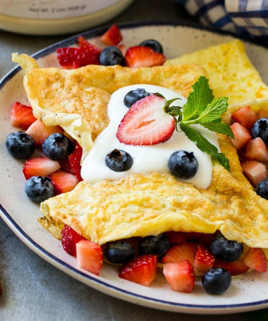 low crab protein crepes