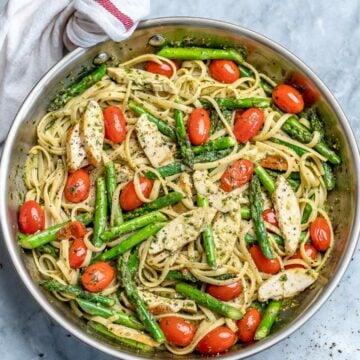 chicken asparagus pasta