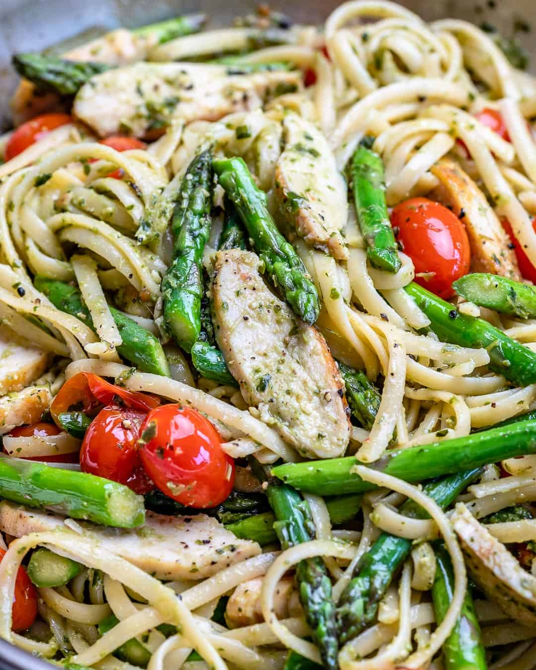 lemon garluc asparagus chicken pasta