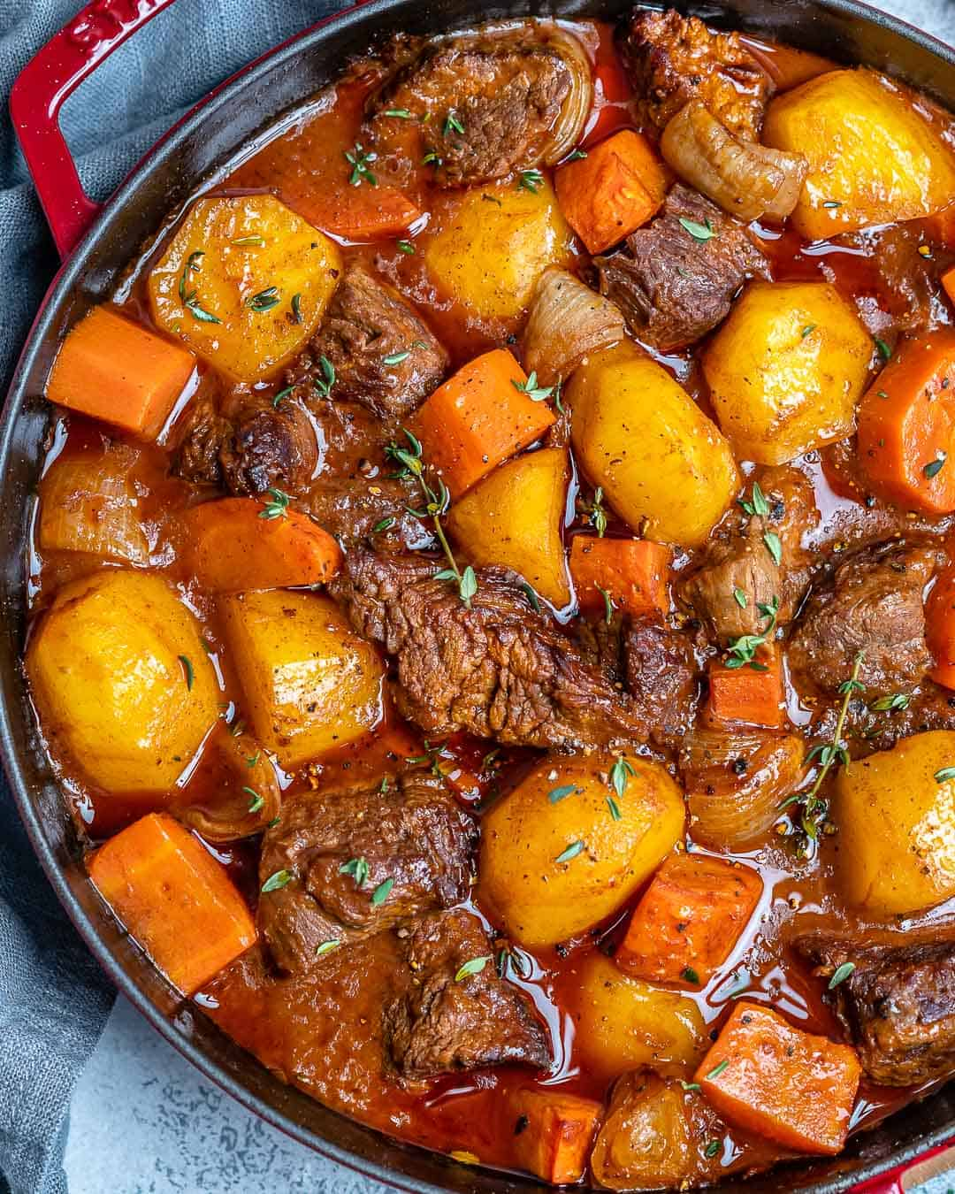 healthy beef stew recipe with potatoes and carrots