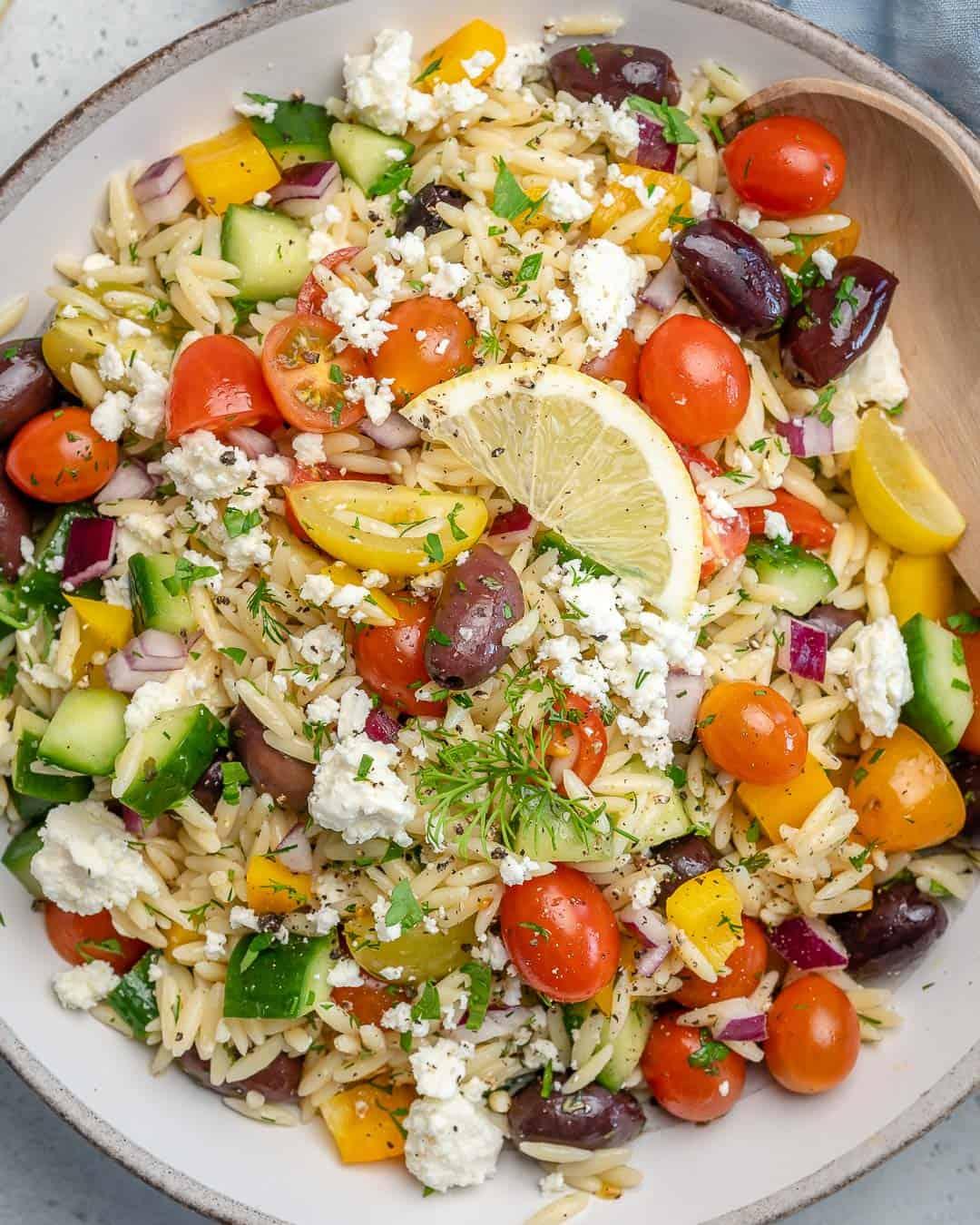 healthy greek orzo salad recipe