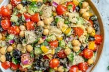 easy and healthy chickpea salad