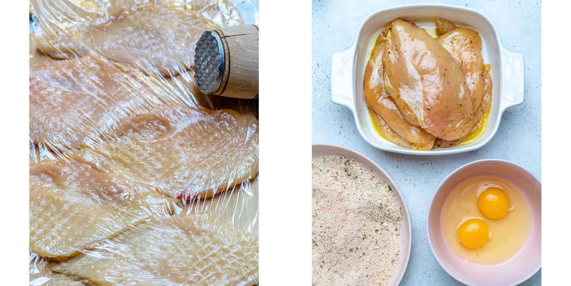 crispy baked chicken cutlet