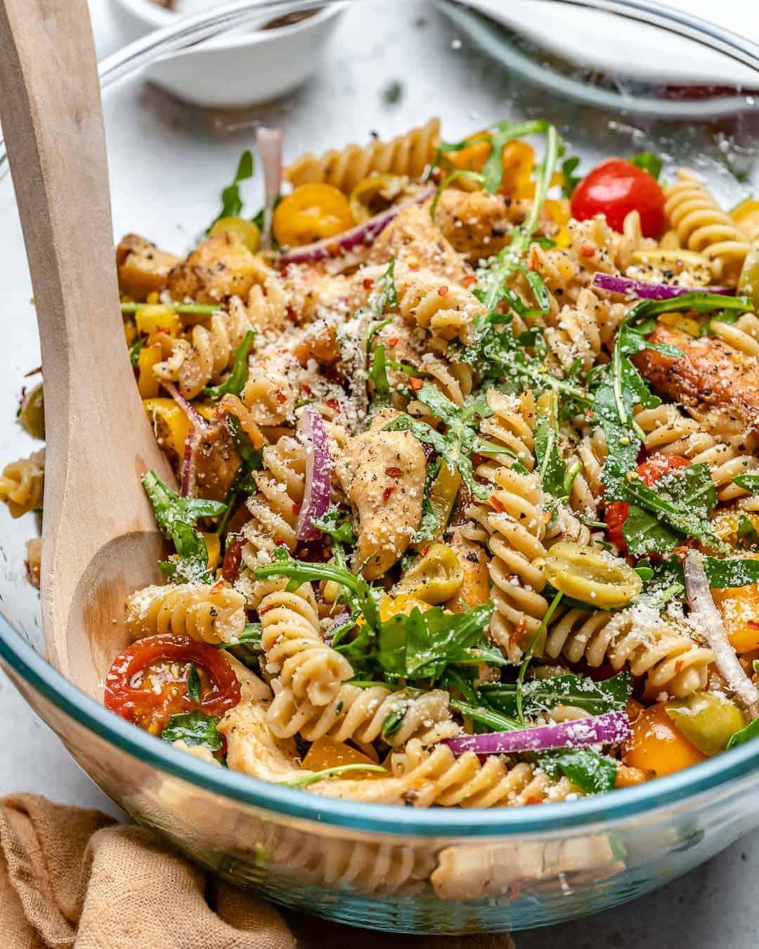 simple and healthy pasta salad recipe