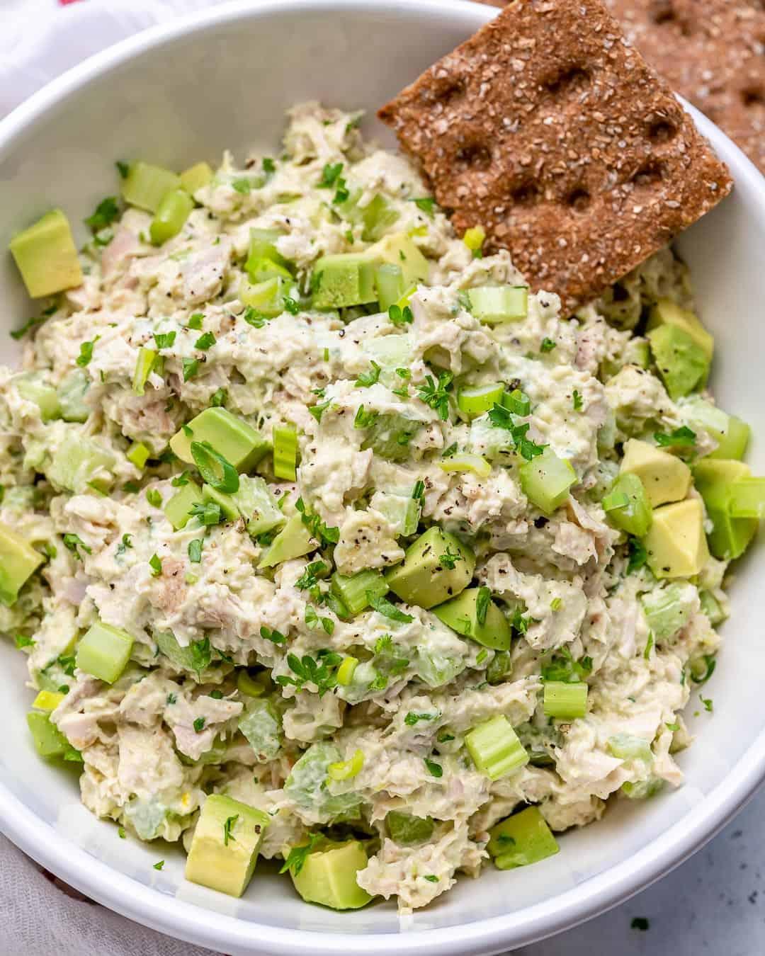 easy chicken avocado salad