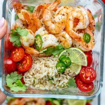 shrimp meal prep recipe