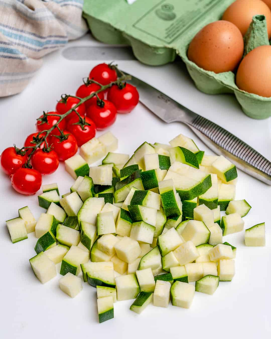 vegetables for low carb crustless quiche