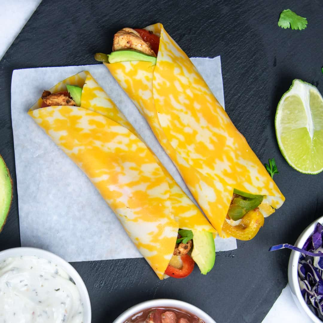 keto chicken fajita wrap