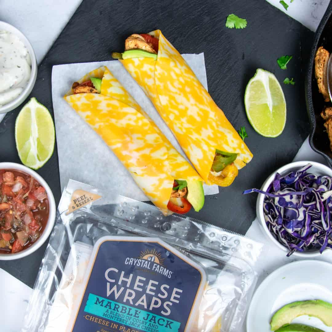 keto chicken fajita wrap recipe