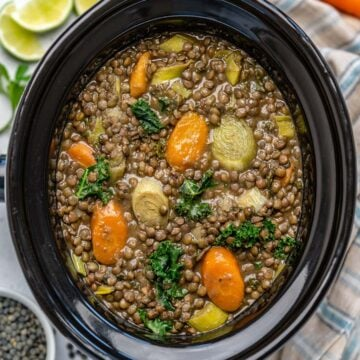 vegan whole lentil soup recipe