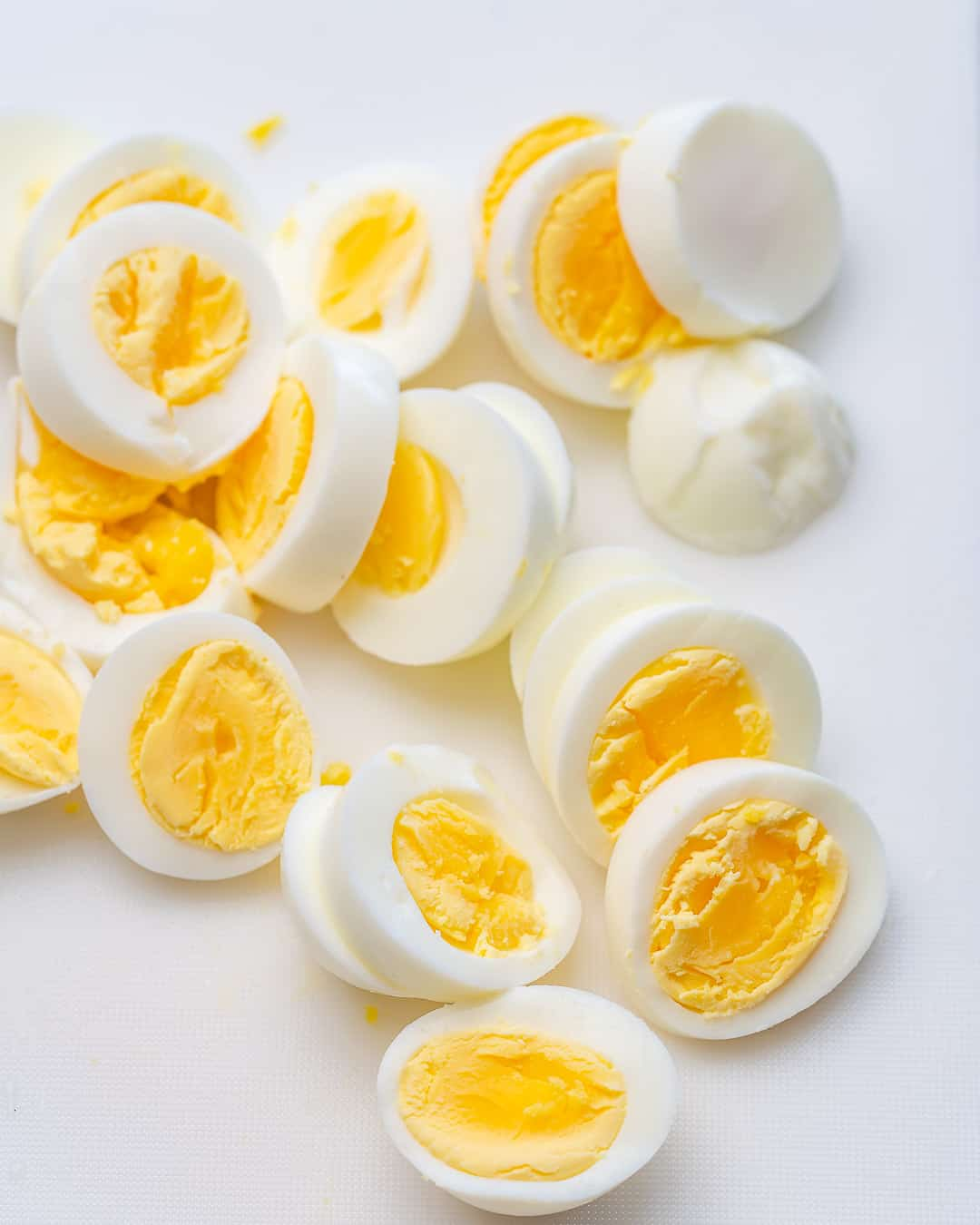sliced eggs for potato salad