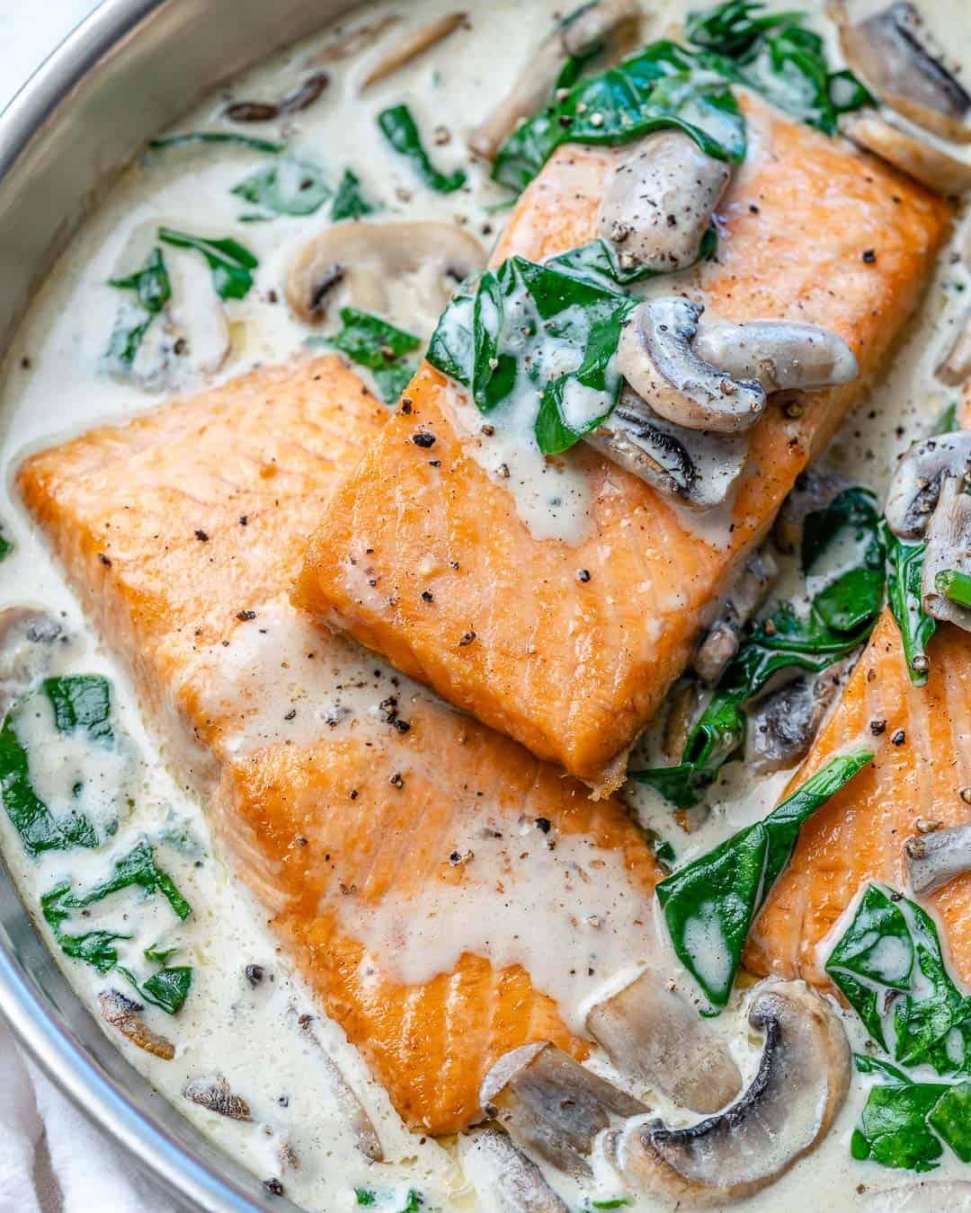 healthy pan seared salmon