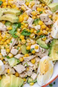 Easy Chicken Avocado Corn Salad