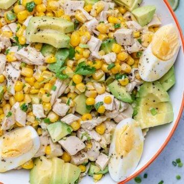 Chicken avocado and corn salad