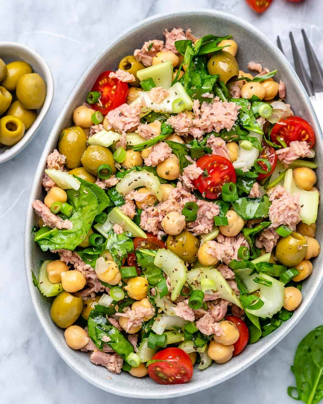 easy Chickpea tuna salad