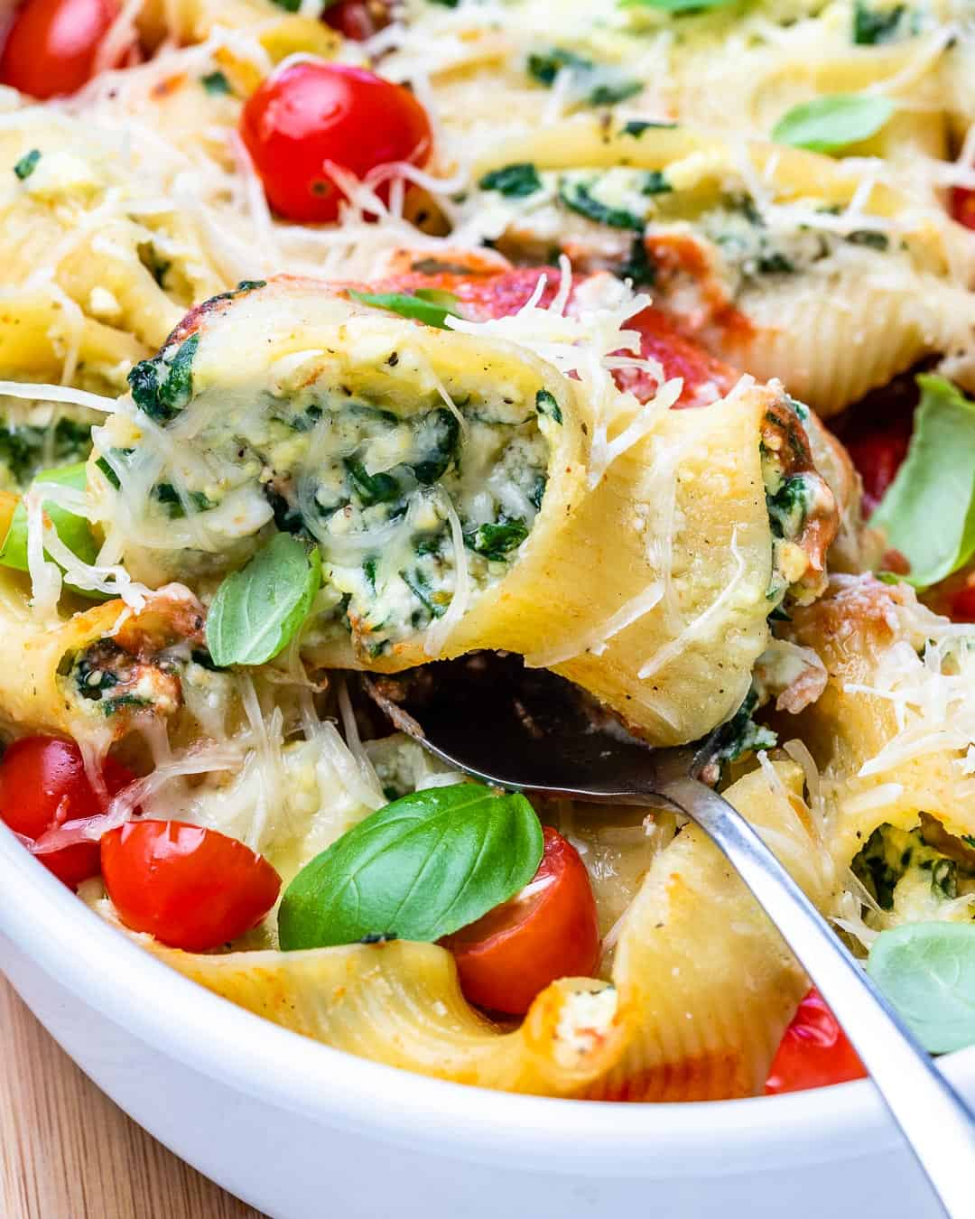 spoon with pasta