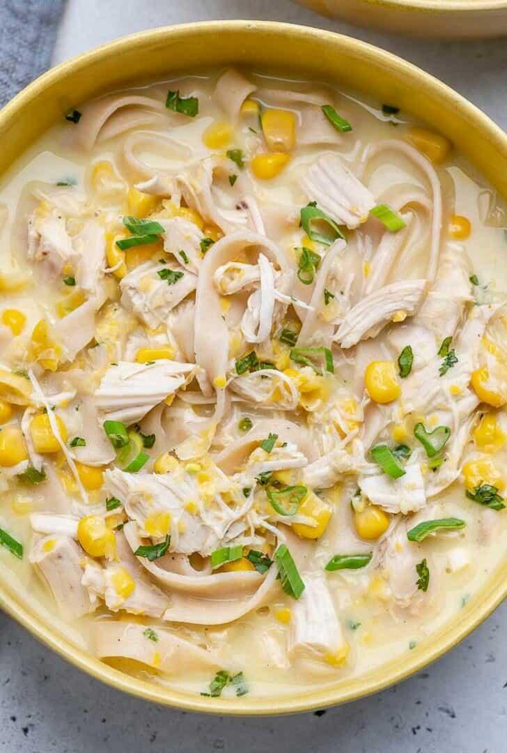 Easy Creamy Chicken Noodle Soup
