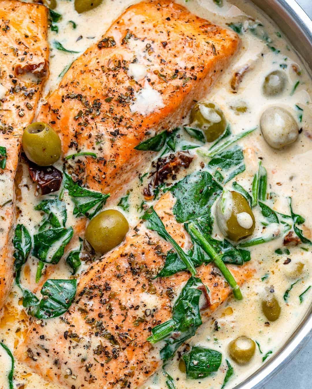 healthy tuscan salmon recipe