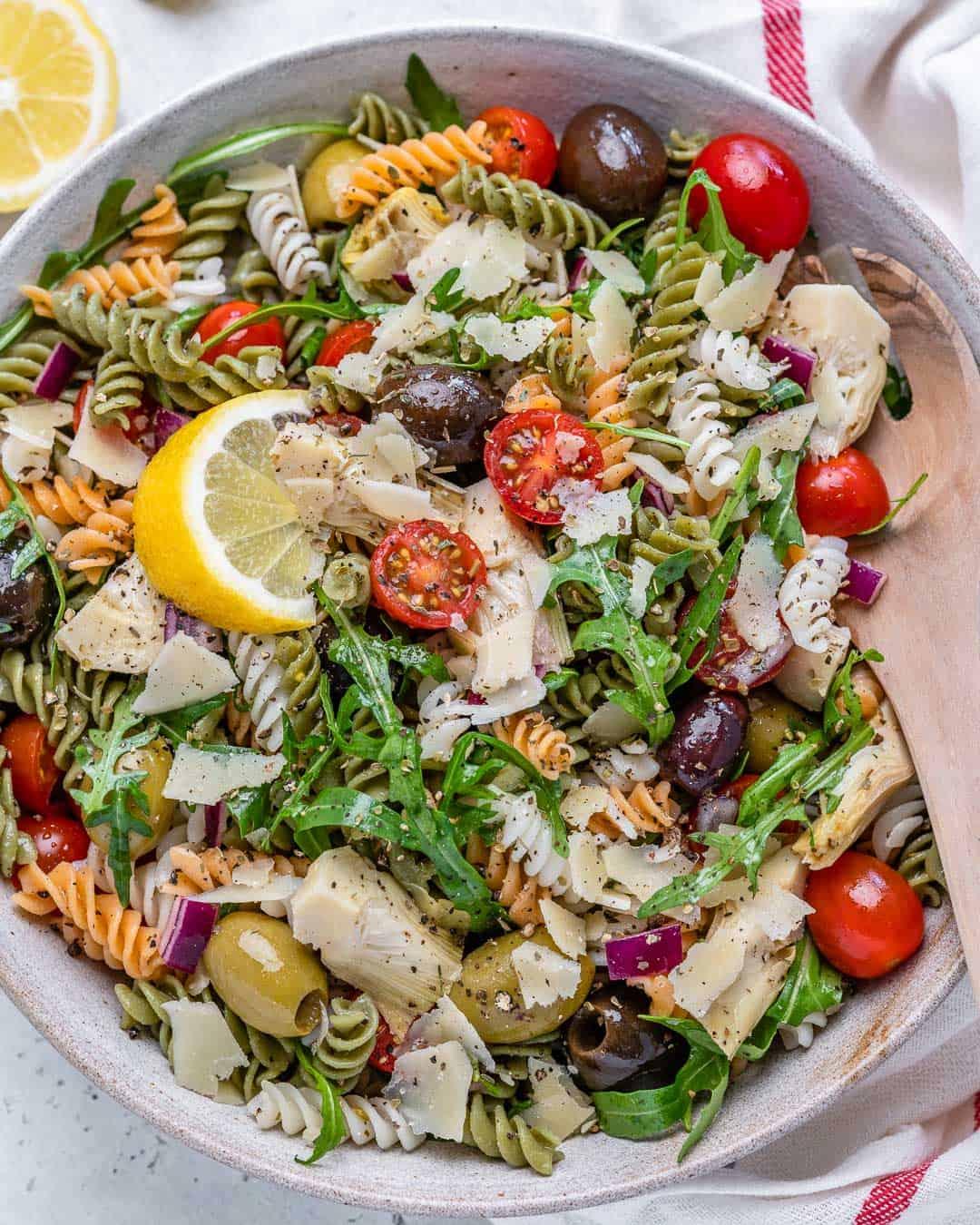 healthy vegetarian pasta salad recipe