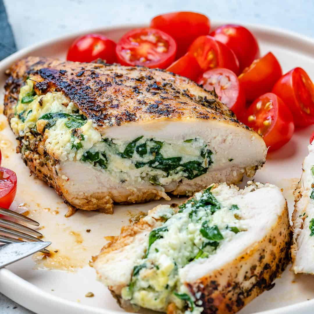 Spinach ricotta stuffed chicken