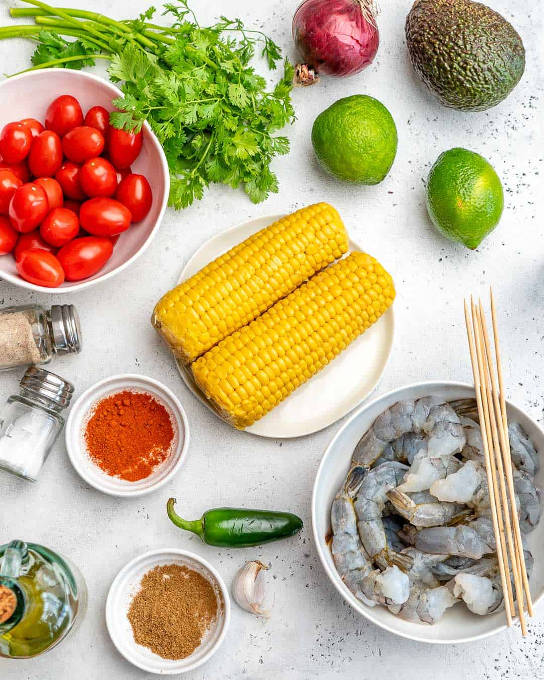 ingredients for the corn salad
