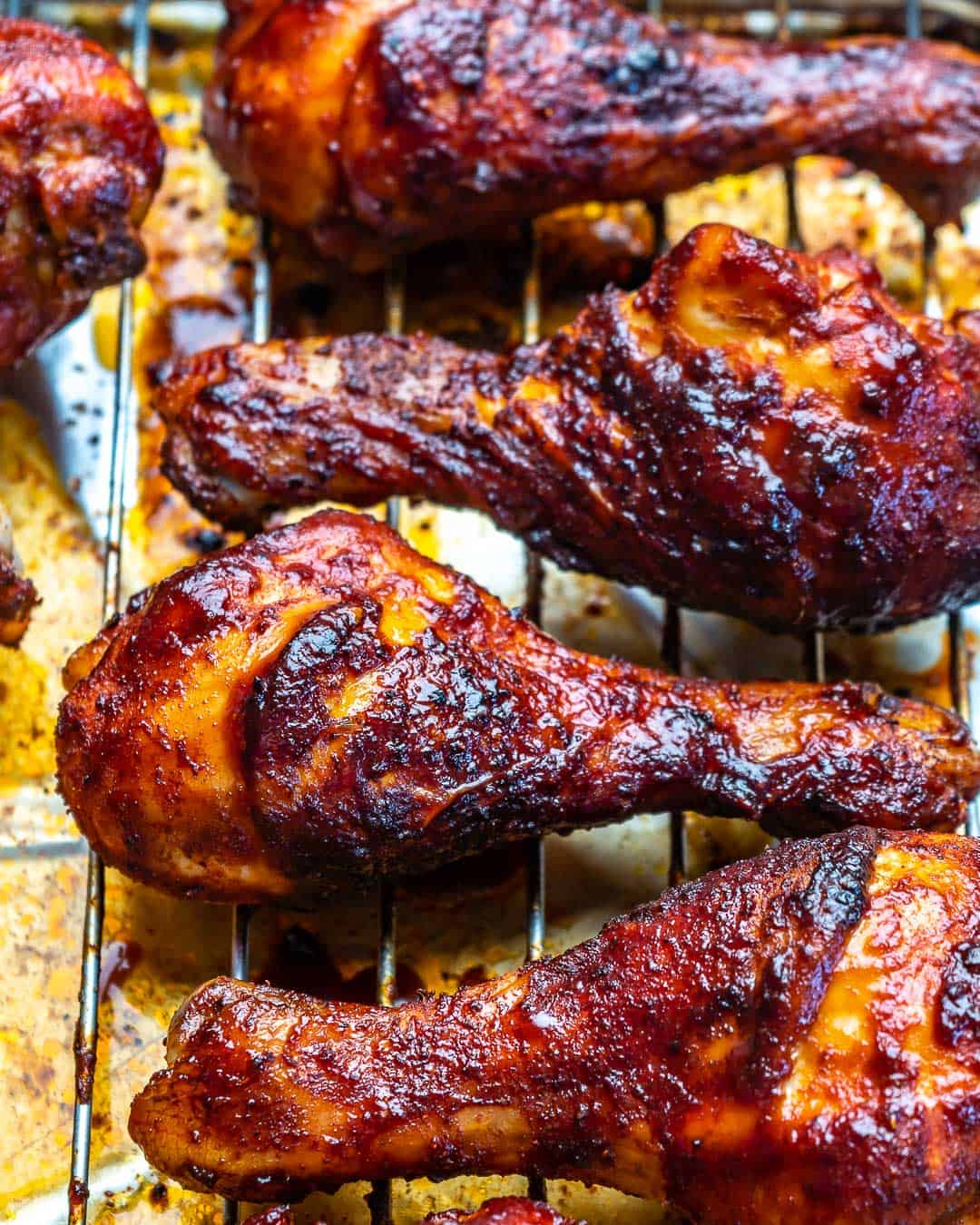 close up drumsticks on rack