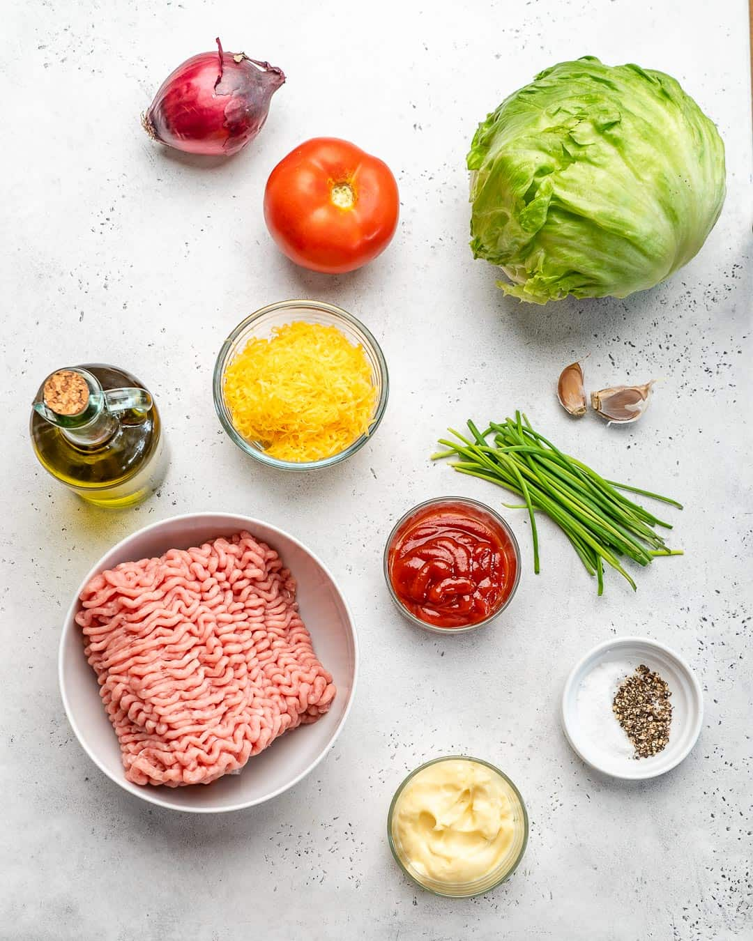 chicken burger ingredients