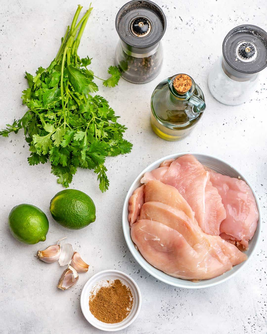 ingredients for Grilled Cilantro Lime Chicken