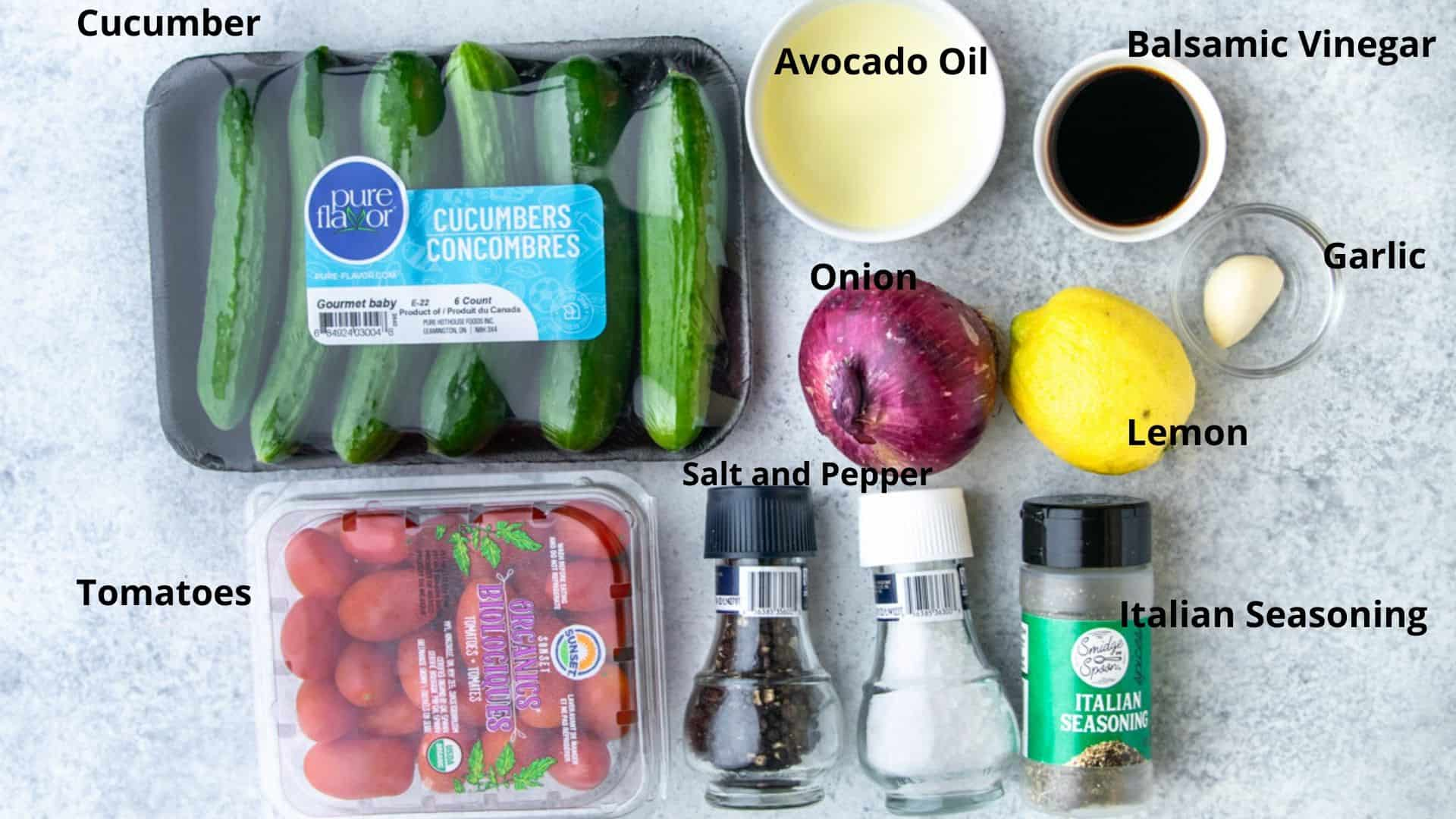image of the ingredients used in making the salad