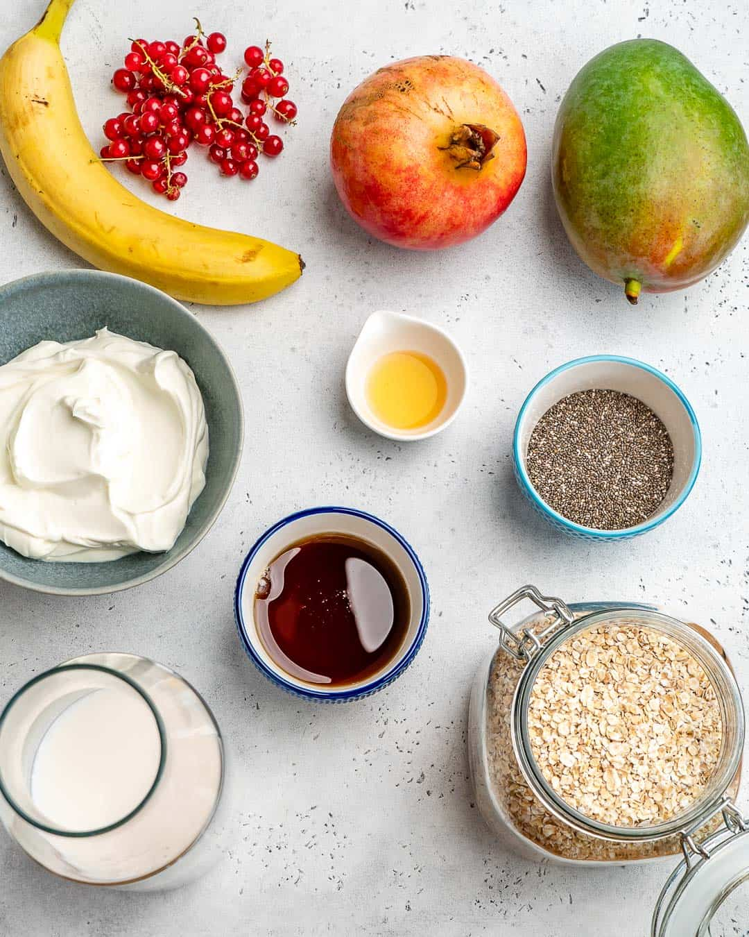 ingredients for Overnight Oats