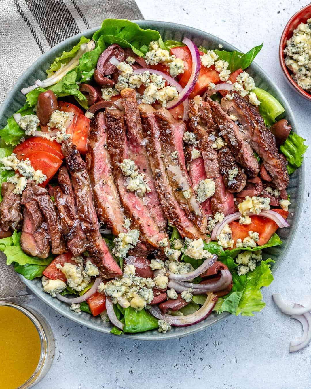 Steak Salad Recipe in a bowl