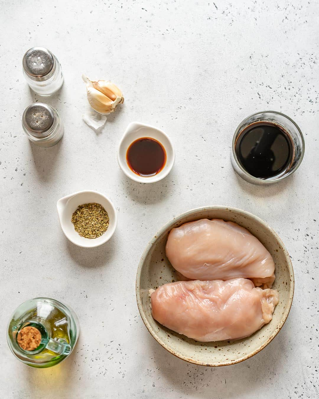 ingredients for Balsamic Chicken Breast