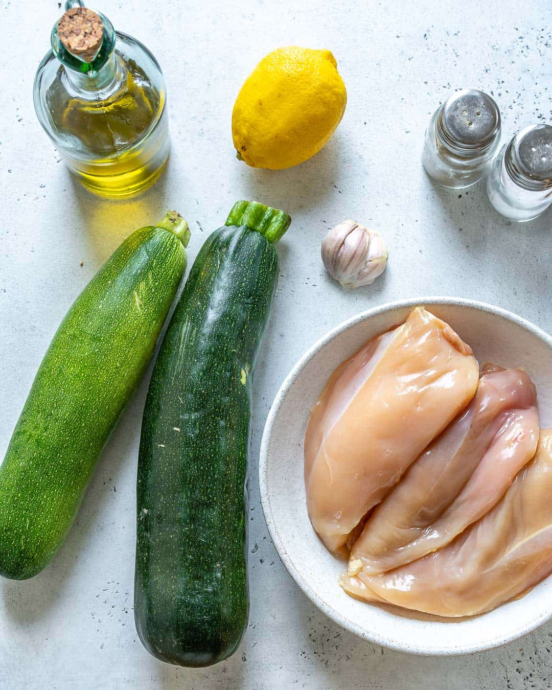 ingredients for the grilled chicken