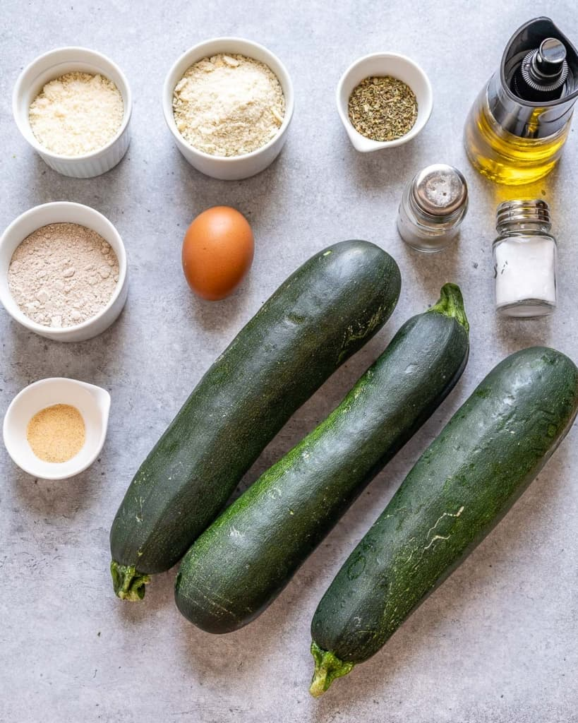 ingredients of baked zucchini fries