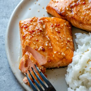 Honey Glazed Air Fryer Salmon