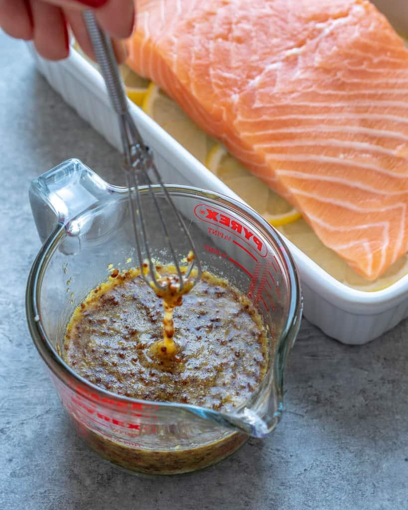 honey mustard marinade by salmon
