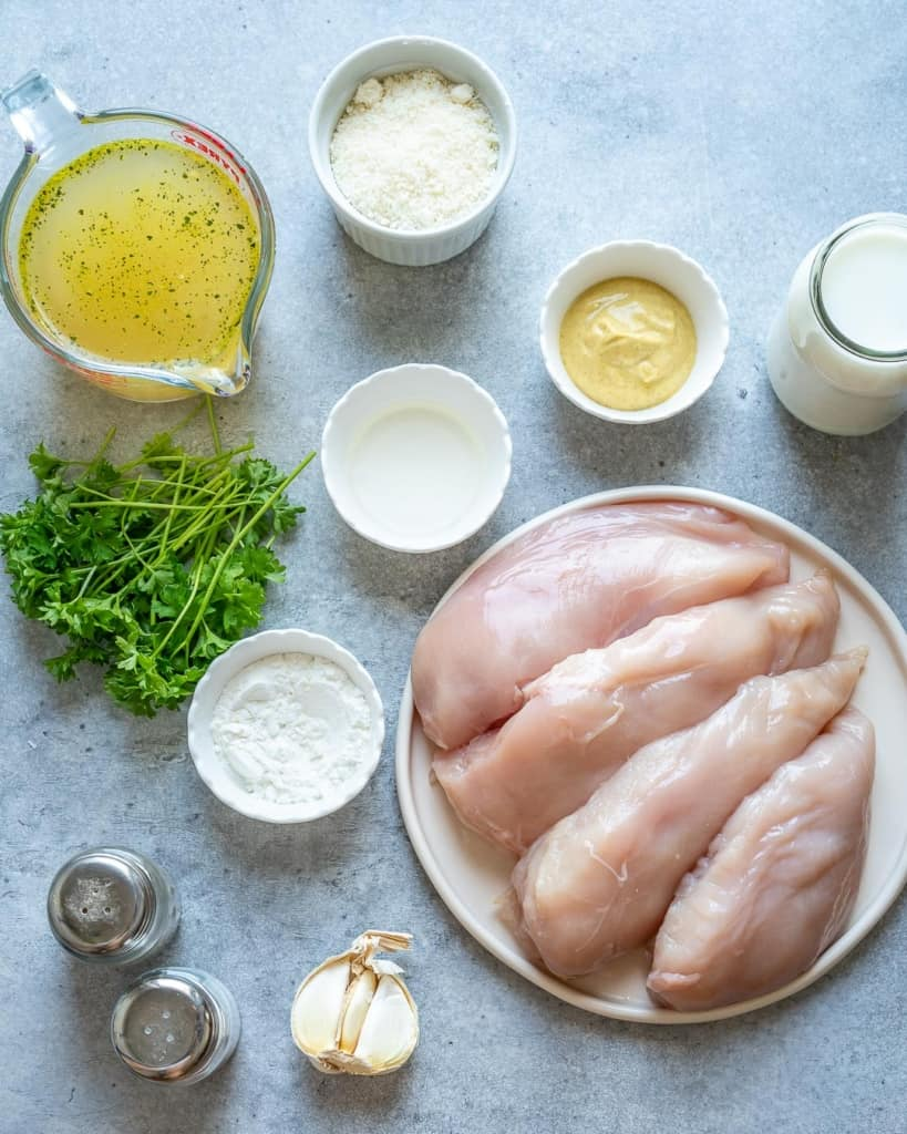 ingredients to make the creamy parmesan chicken