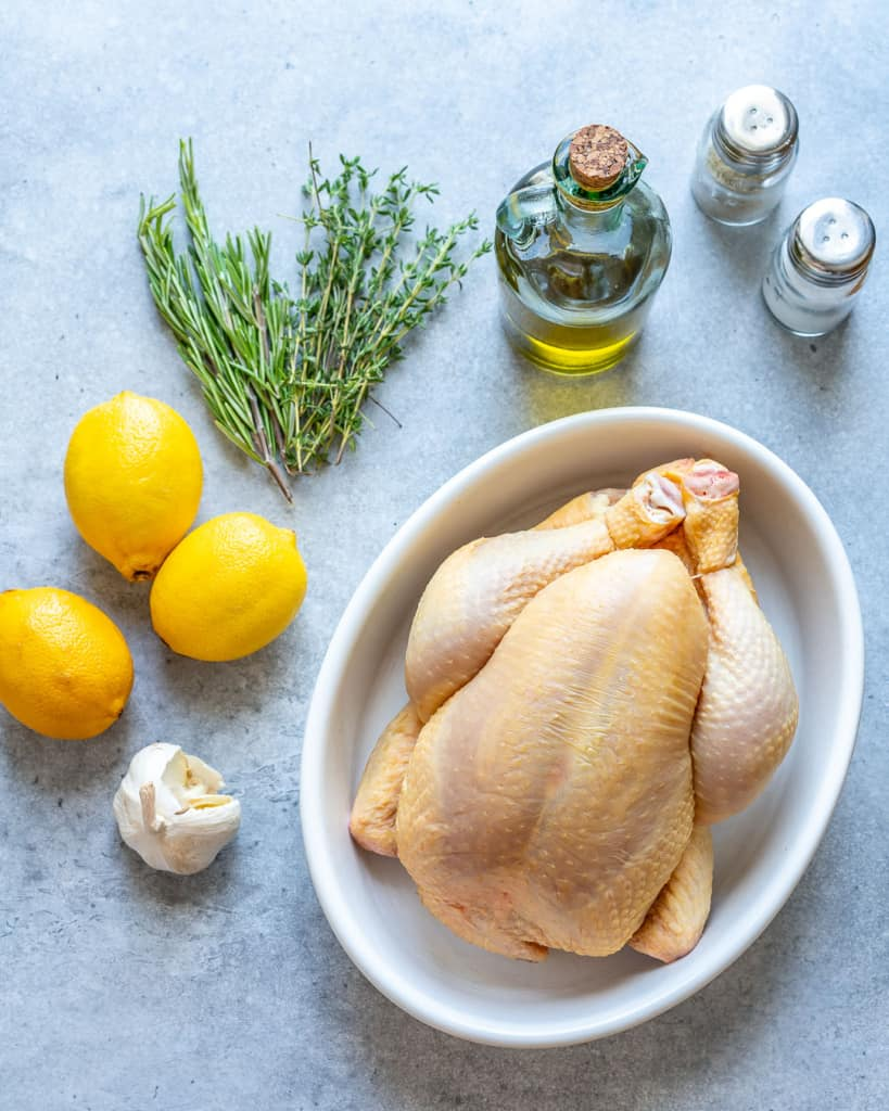 ingredients for chicken roast