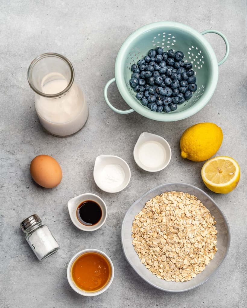 Top down shot of ingredients.