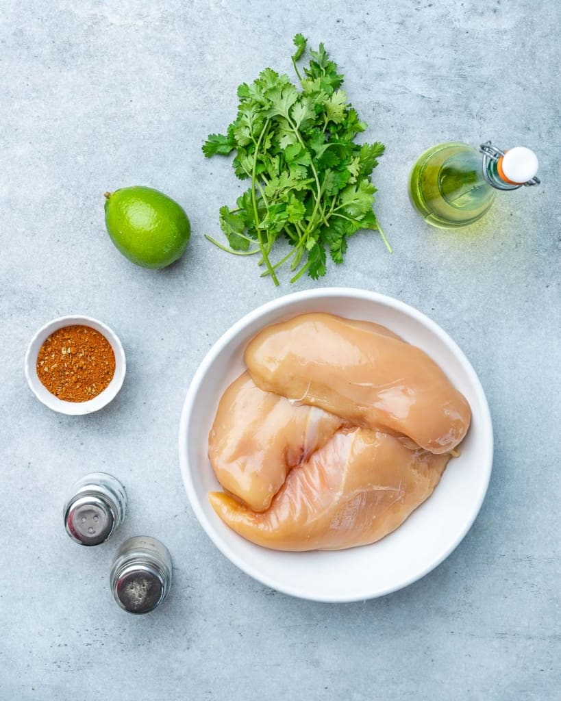 ingredients to make cilantro lime chicken bites