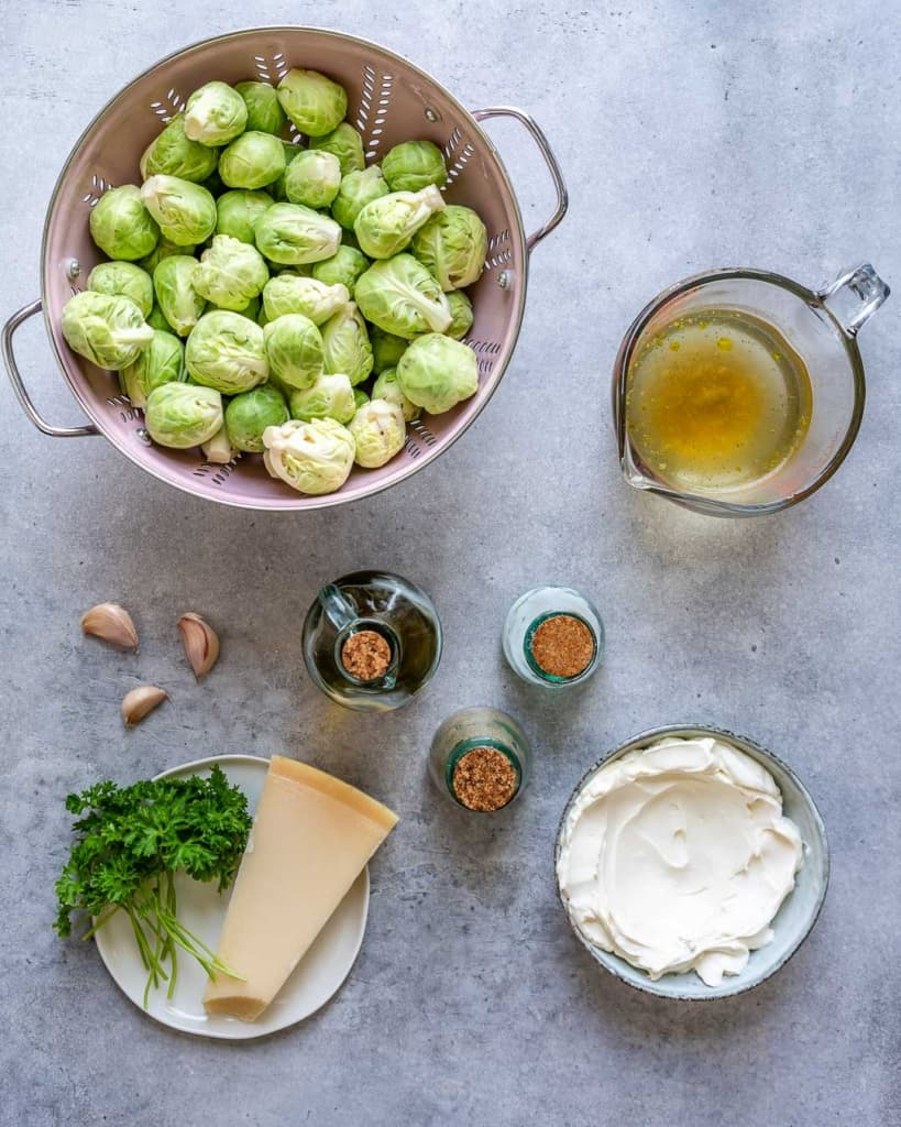 ingredients for the creamy brussel sprouts