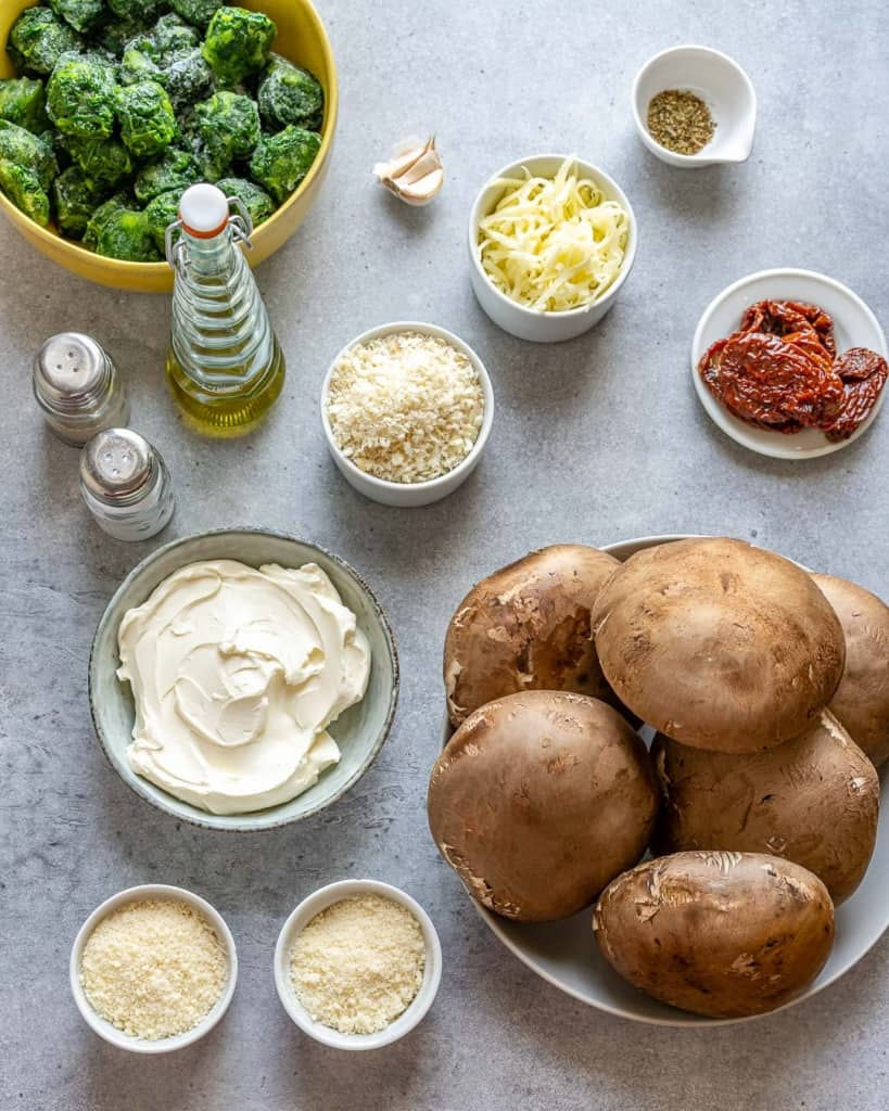 ingredients of stuffed mushroom