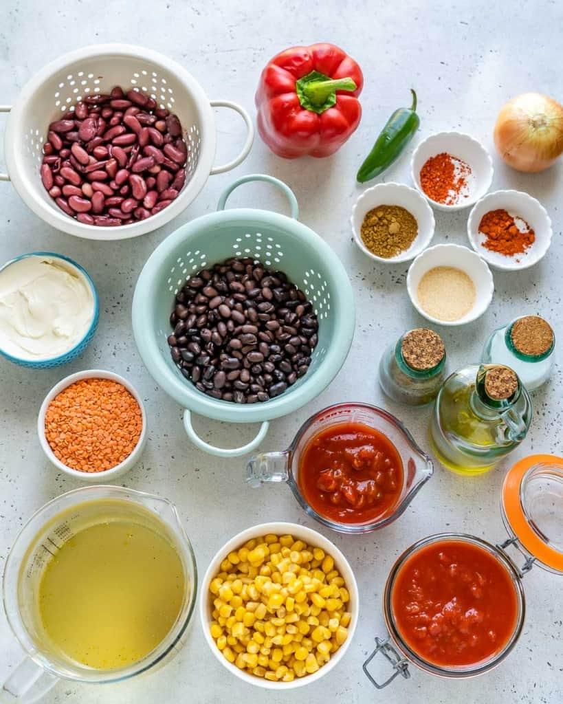 ingredients to make vegetarian tortilla soup