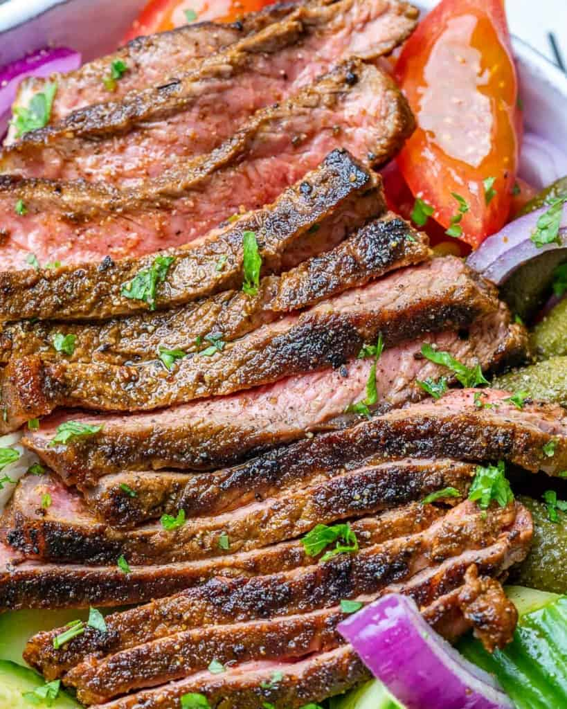 close up beef shawarma