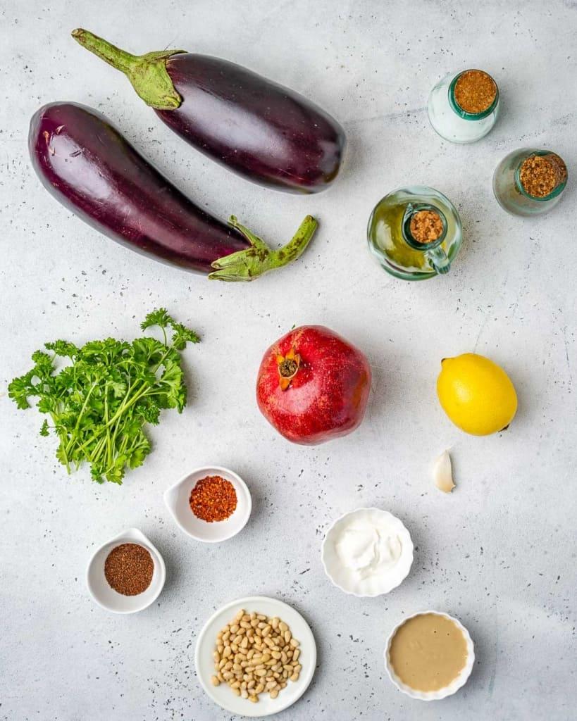 ingredients to make baba ganoush