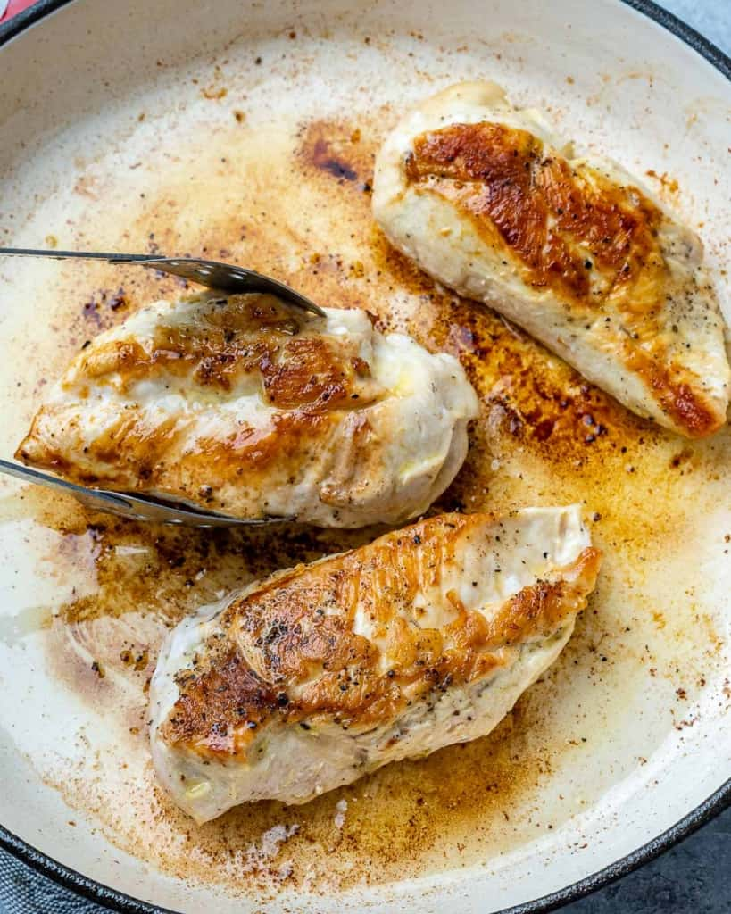 cooked chicken breast for lemon chicken