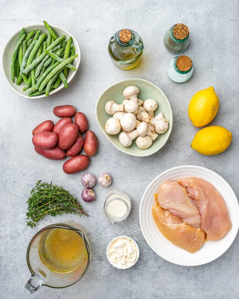 ingredients to make lemon chicken