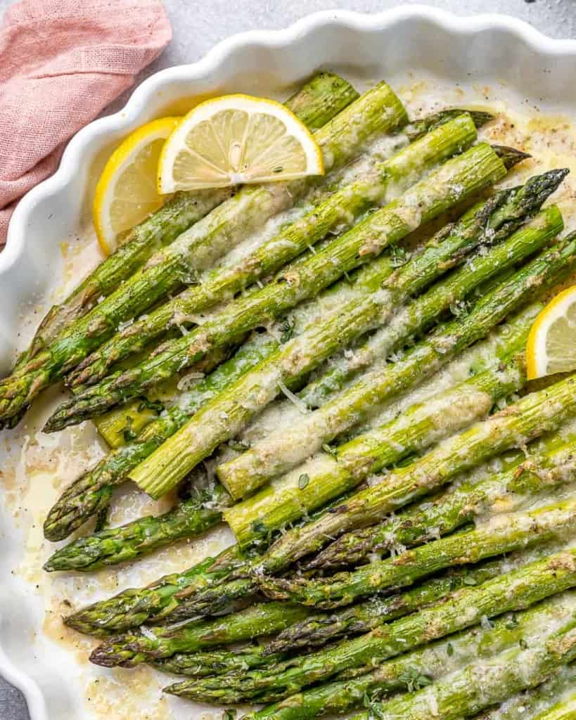 close up asparagus recipe