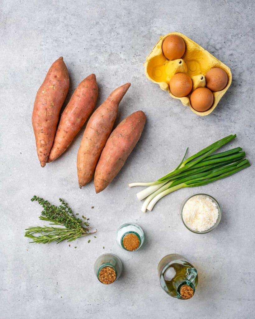 ingredients to make this sweet potato breakfast hash