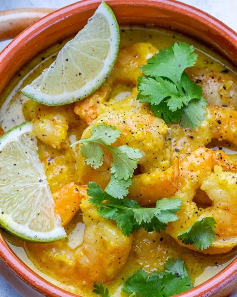 close up shrimp curry recipe